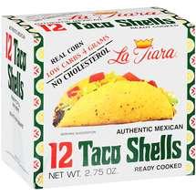 La Tiara Low Carb Taco Shells White Corn Box of 12