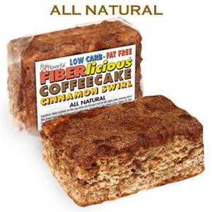 Simply Scrumptous Low Carb Fat Free Cinnamon Swirl Coffee Cake