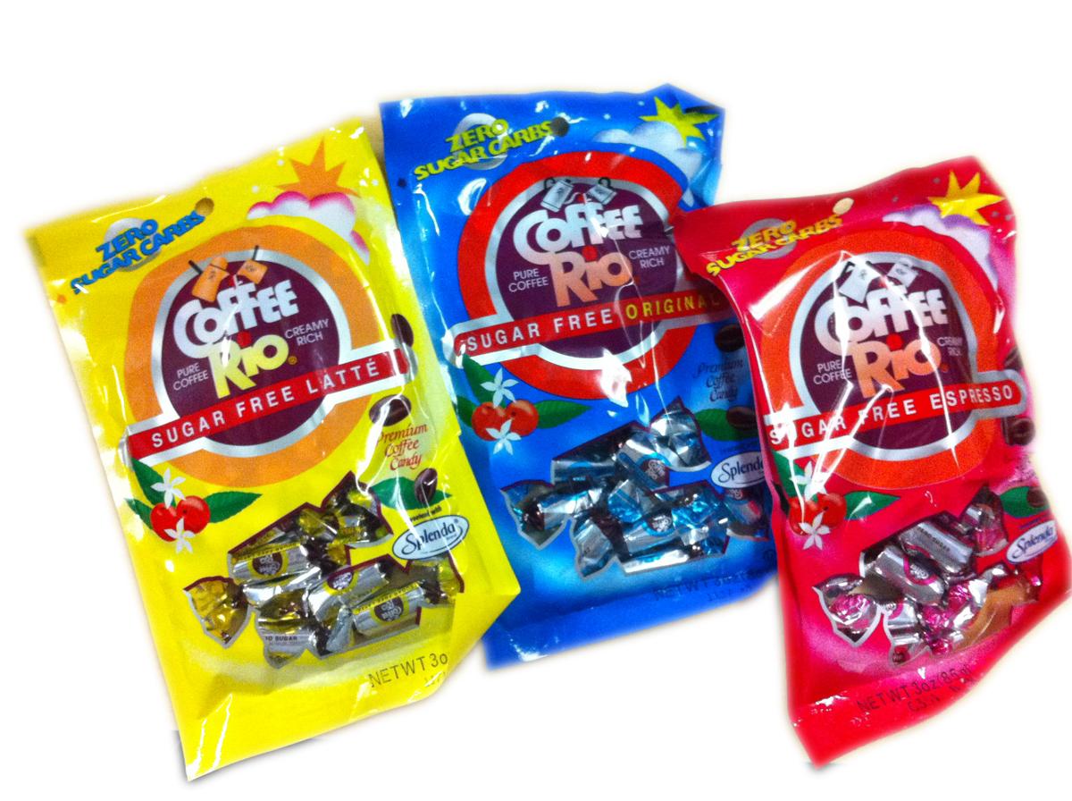 Coffee Rio Sugar Free Latte Candies 3 oz bag