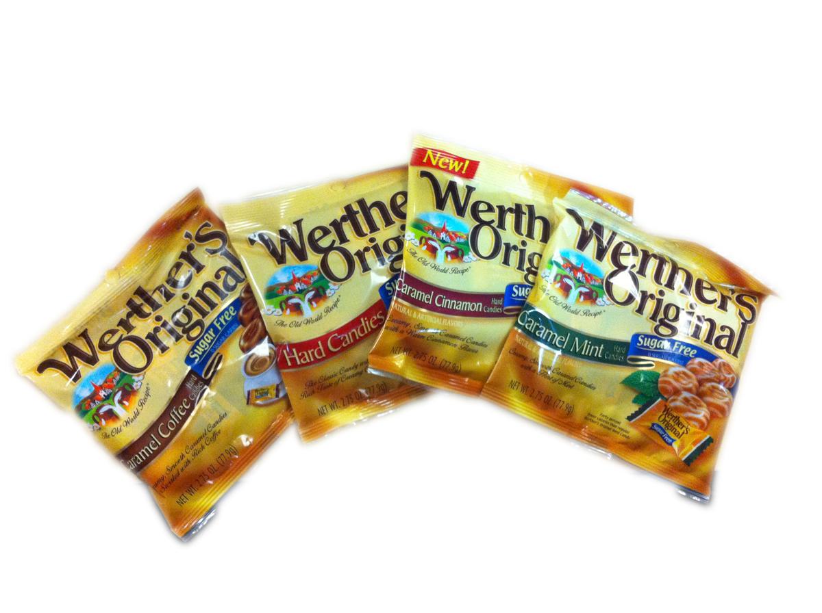 Werthers Original Sugar Free Caramel Hard Candies 2.75 oz bag
