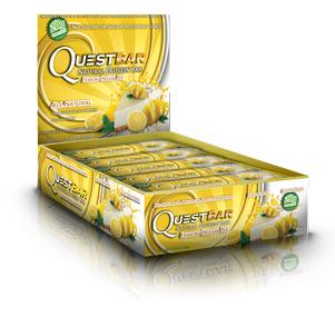 Quest Bar All Natural Line Low Carb Lemon Cream Pie Box 12 bars