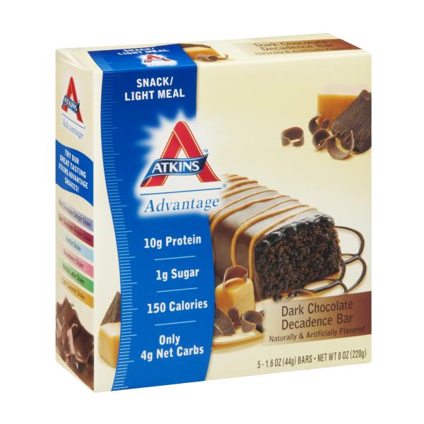 Atkins Advantage Dark Chocolate Decadence bar box of 5