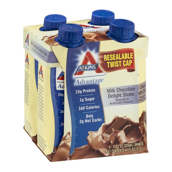 Atkins Rtd Chocolate Delight 4 pk Shakes