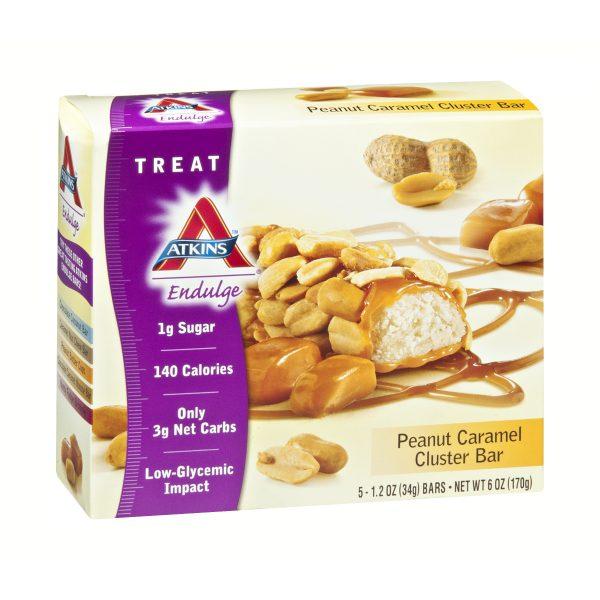 Atkins Endulge Low Carb Peanut Caramel Cluster Box of 5