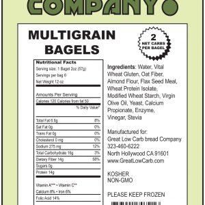 Great Low Carb Multigrain Bagels