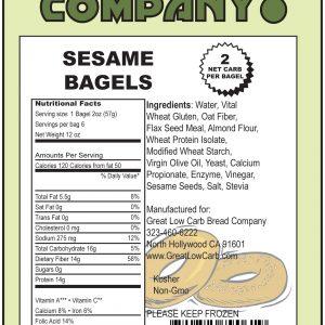 Great Low Carb Sesame Bagels