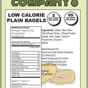Great Low Carb Plain Bagels 65 Calorie Version
