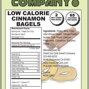 Great Low Carb  Cinnamon Bagels 65 Calorie Version