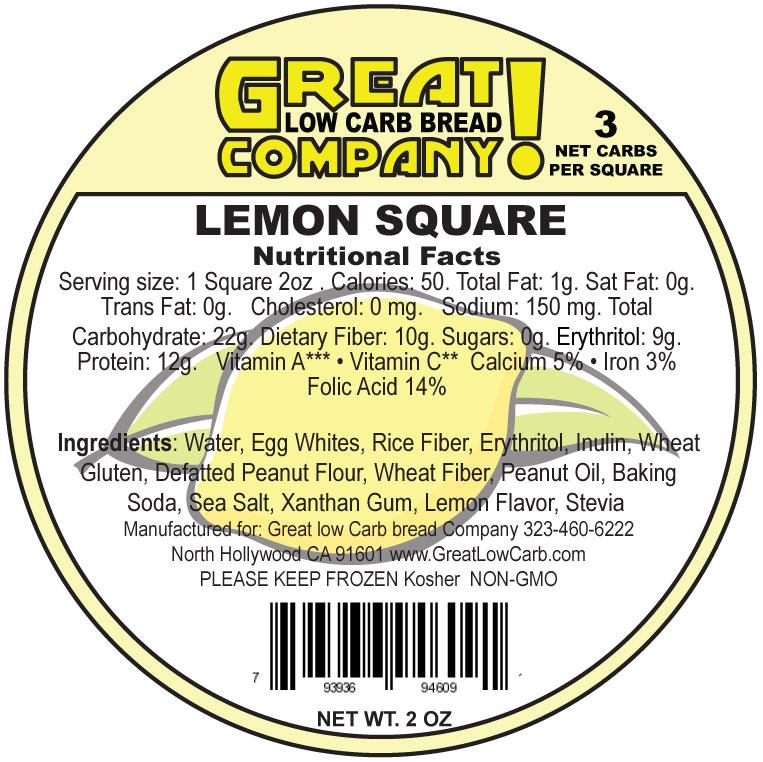 Great Low Carb Low Fat Lemon Square