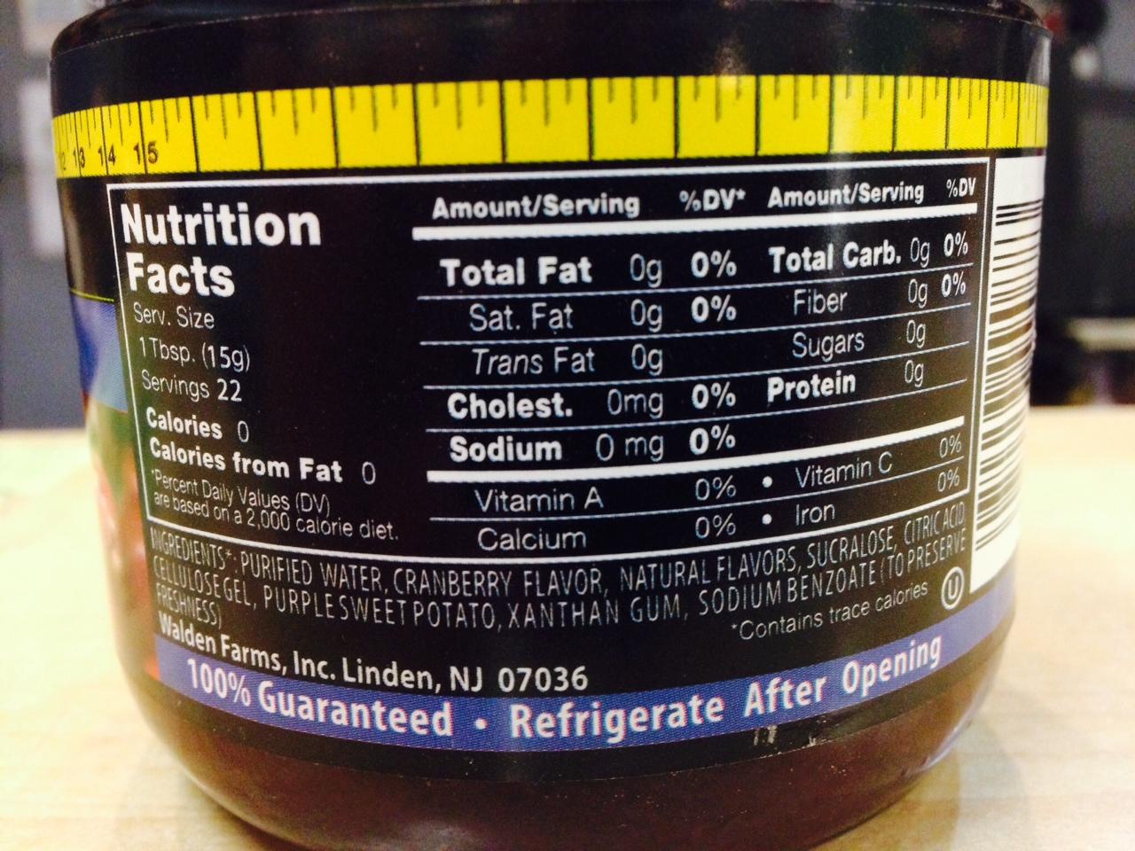 Walden Farms Cranberry Sauce/spread