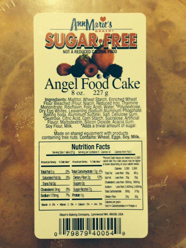 Ann Marie's Sugar Free Angel Food Cake