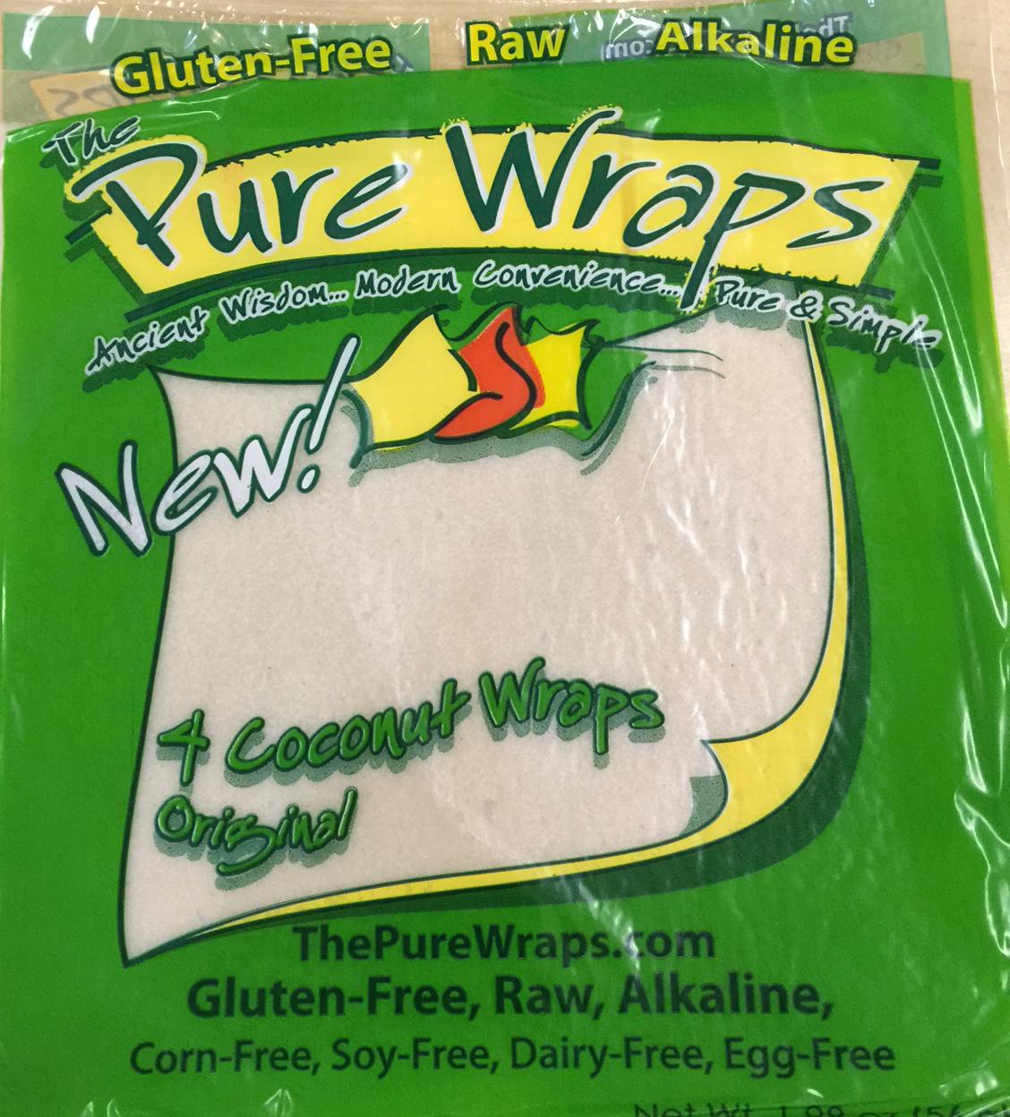 Pure Wraps Paleo coconut wraps 4 pack