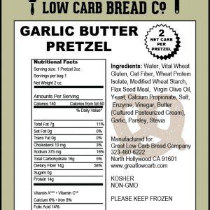 Great Low Carb Soft Pretzel Garlic Butter 2oz