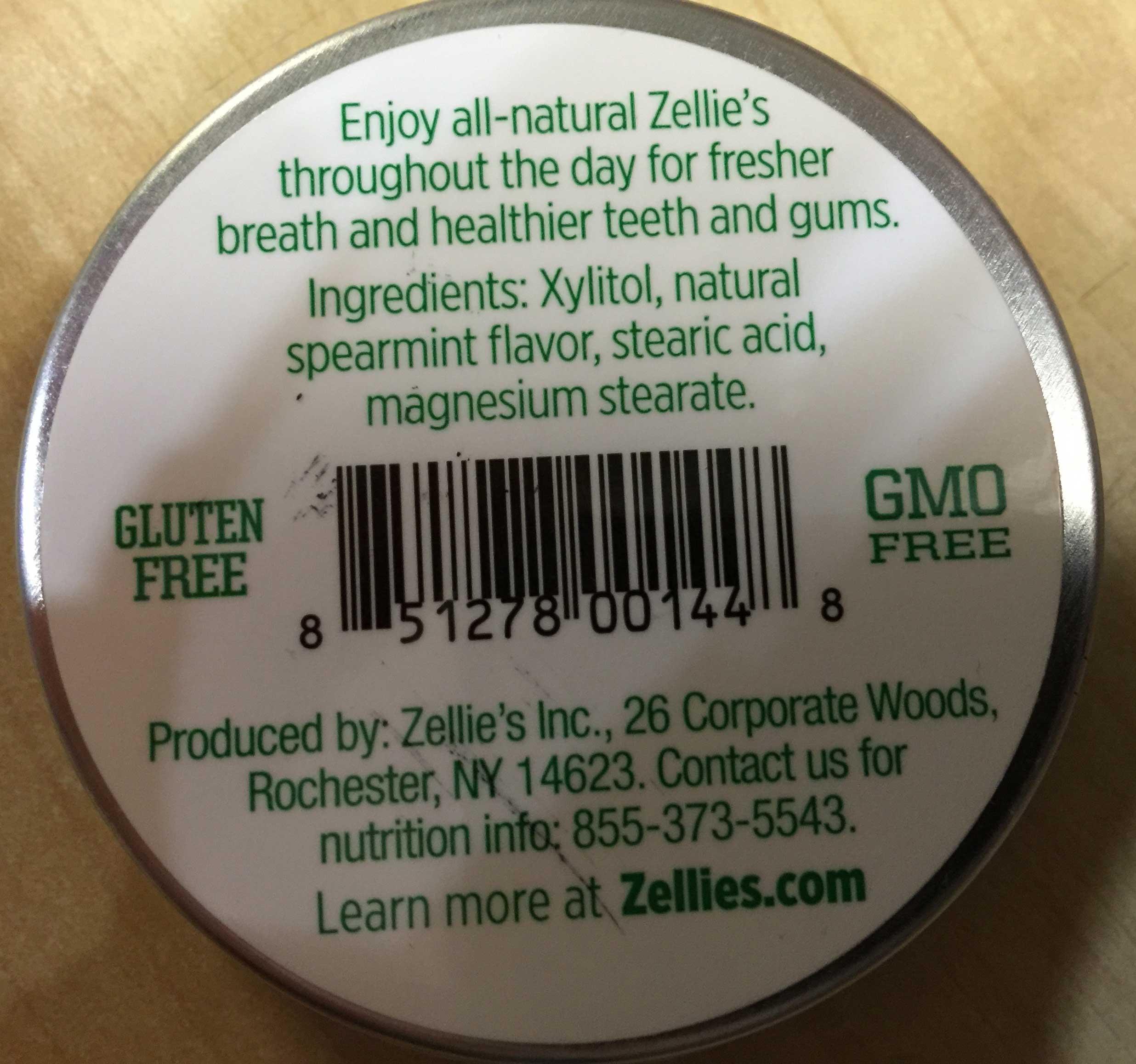 Zellie's Sugar Free Spearmint Mints 65 pieces