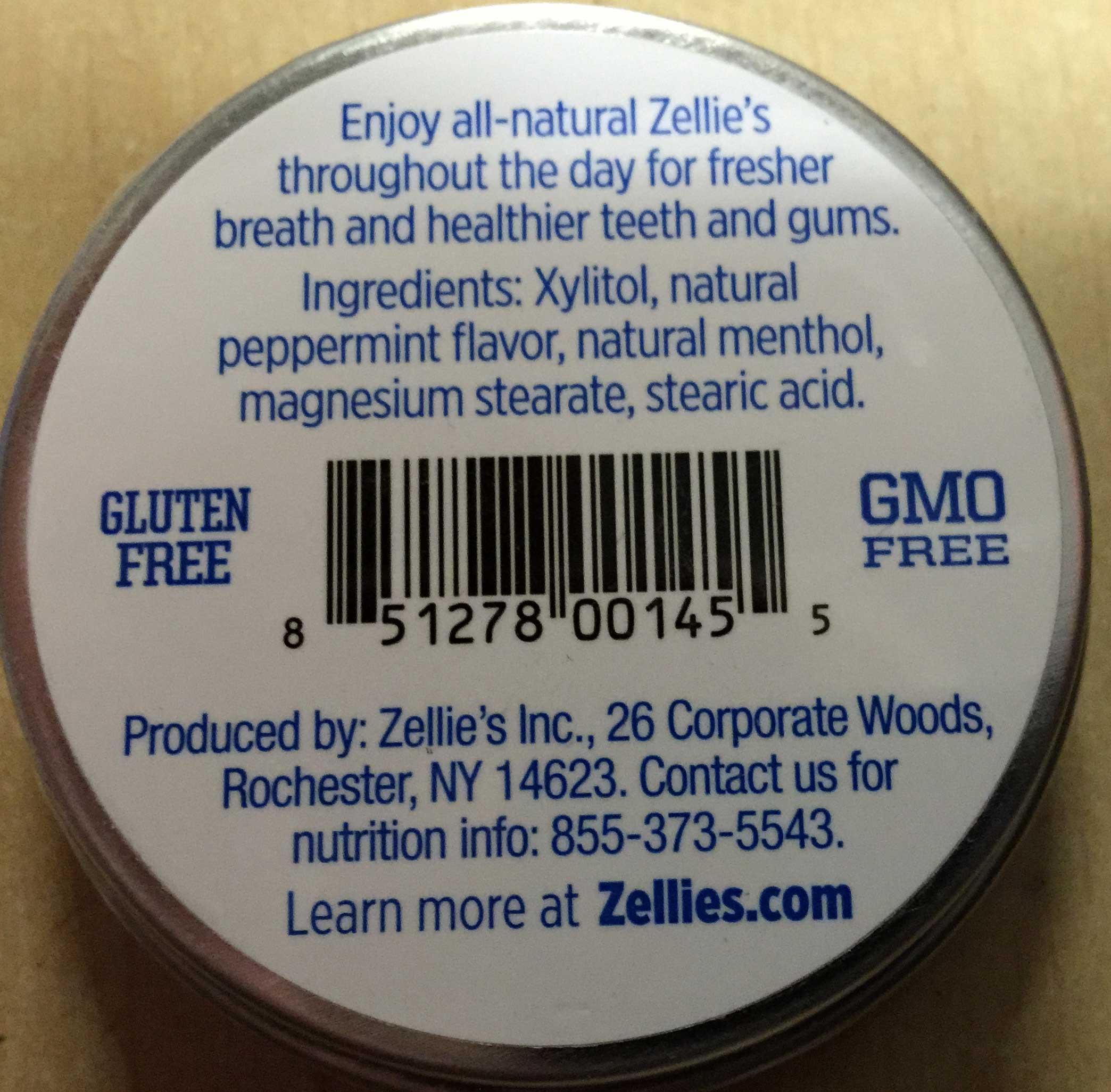 Zellie's Sugar Free Cool Mints 65 pieces