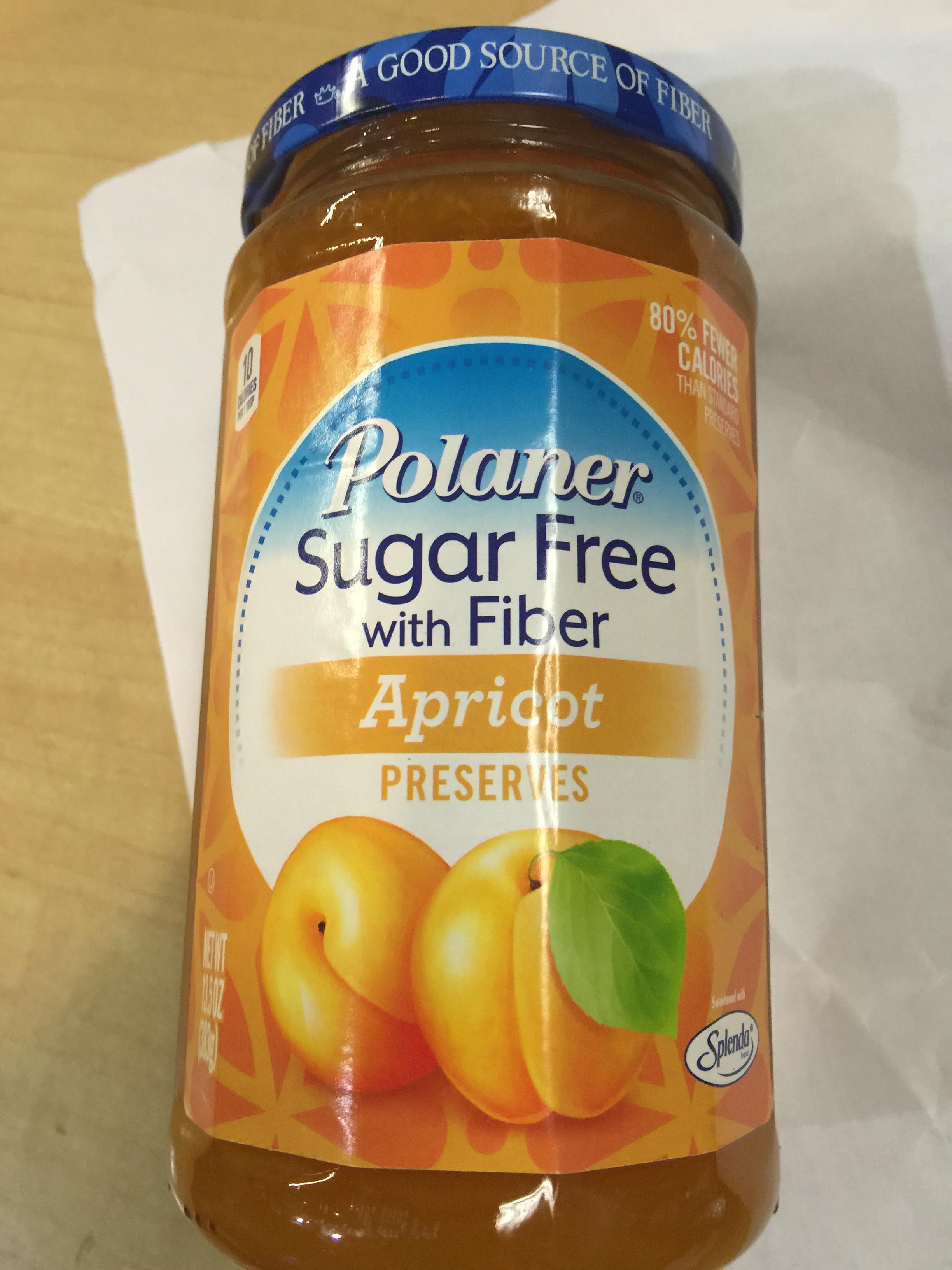 Polaner Sugar Free Apricot Preserves 13.5oz