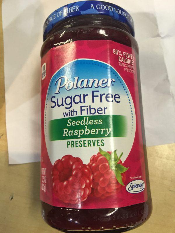 Polaner Sugar Free Seedless Raspberry Preserves 13.5oz
