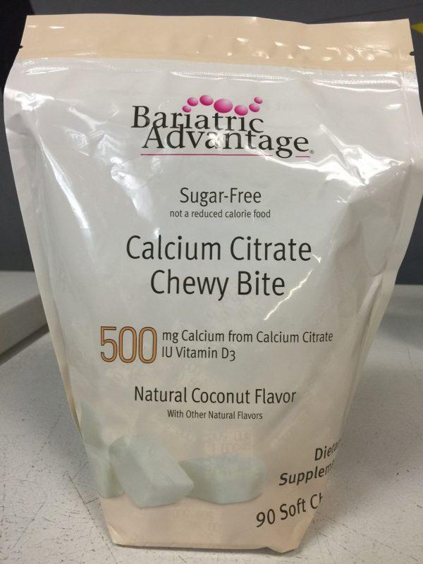 Bariatric Advantage 500mg Calcium Citrate Coconut 90 chews
