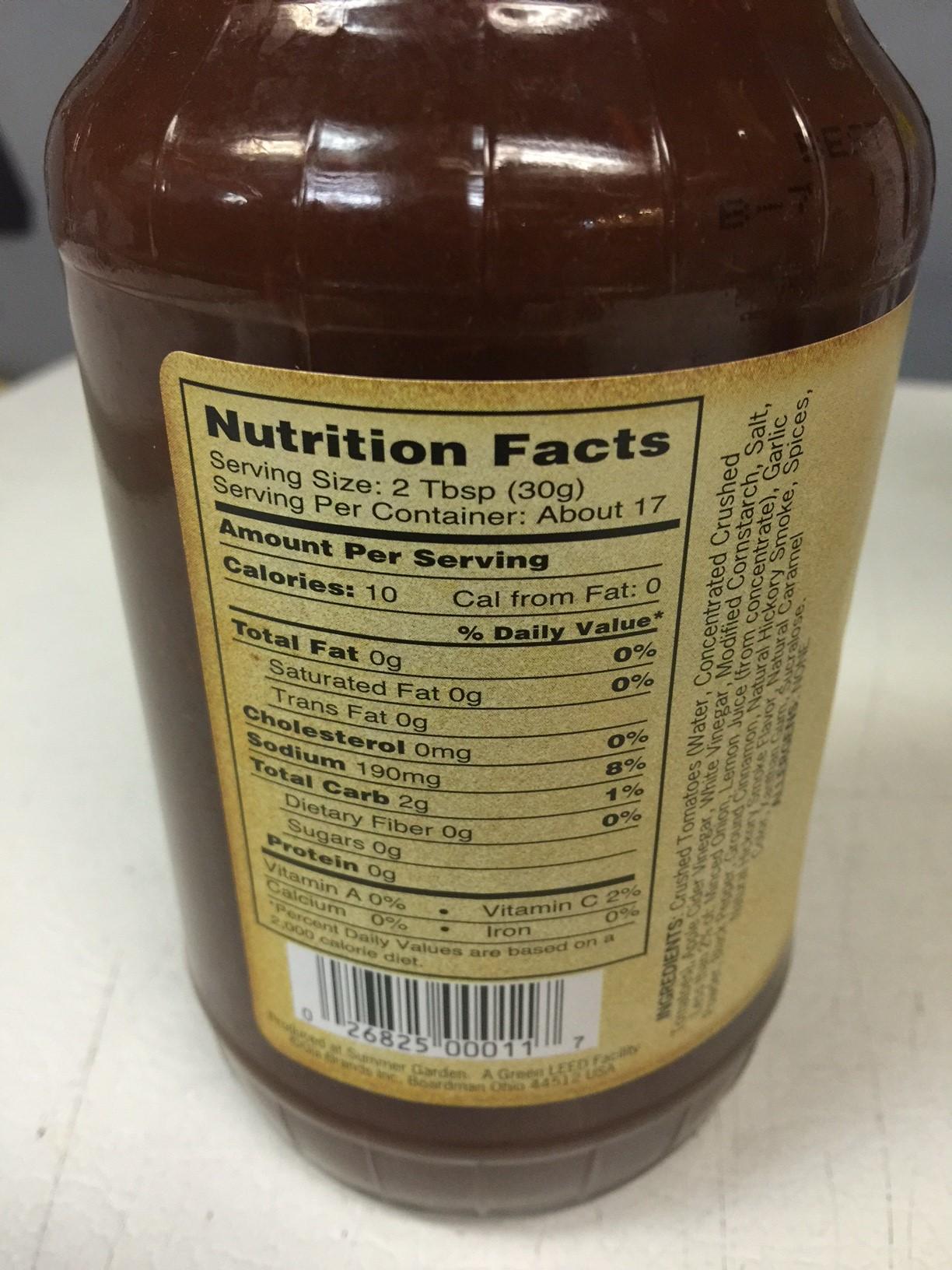 G Hughes Sugar Free Hickory BBQ Sauce