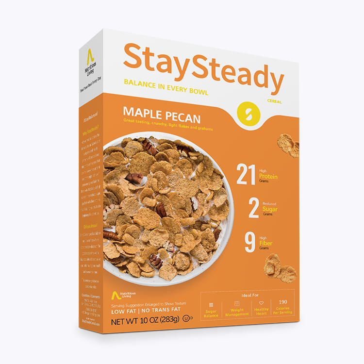 Stay Steady Low Carb Maple Pecan Cereal