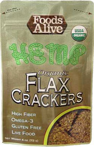 Foods Alive Low Carb Flax Crackers Hemp