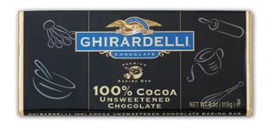Ghirardelli Unsweetened Chocolate Baking Bar