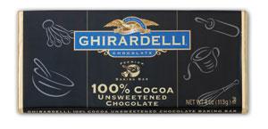 Ghirardelli Unsweetened Chocolate Baking Bar