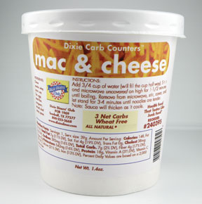 Dixie Diners Low Carb Cup of Mac n Cheese