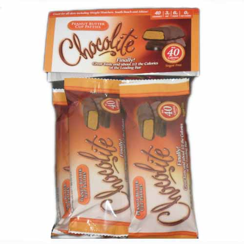 Chocolite Low Carb Peanut Butter Cup Patties pack of 5
