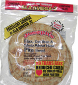 Joseph's Bakery Low Carb Pita Bread Flax Oat
