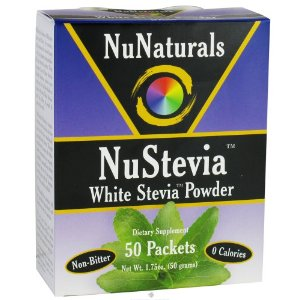 Nu Naturals White Stevia Powder 50 Packets