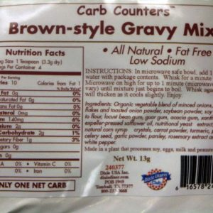 Dixie Diners Low Carb Brown Style Gravy Mix