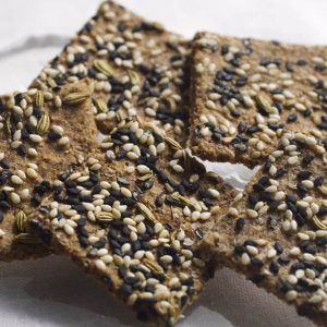 Skinny Crisps gluten free Low Carb Seeded Crackers(rye flavor)