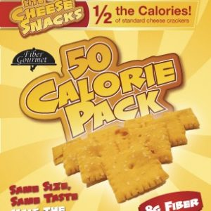 Fiber Gourmet Lite Cheese Snack Crackers 60 Calorie Bag