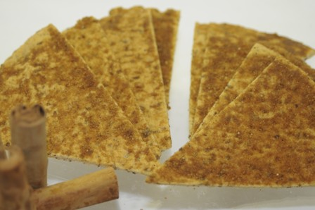 Sami's Bakery Low Carb Millet and Flax Cinnamon Pita chips