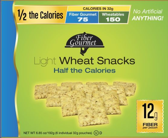 Fiber Gourmet wheat Thinables snack Crackers 6oz box