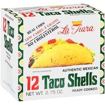 La Tiara Low Carb Taco Shells White Corn Box of 12