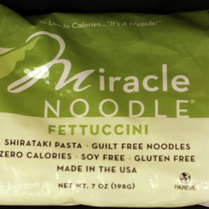 Miracle Noodle Fettuccine Shirataki Noodles 7oz single bag