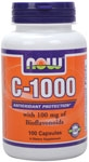 Now Foods 1000mg Vitamin C Capsules 100ct.