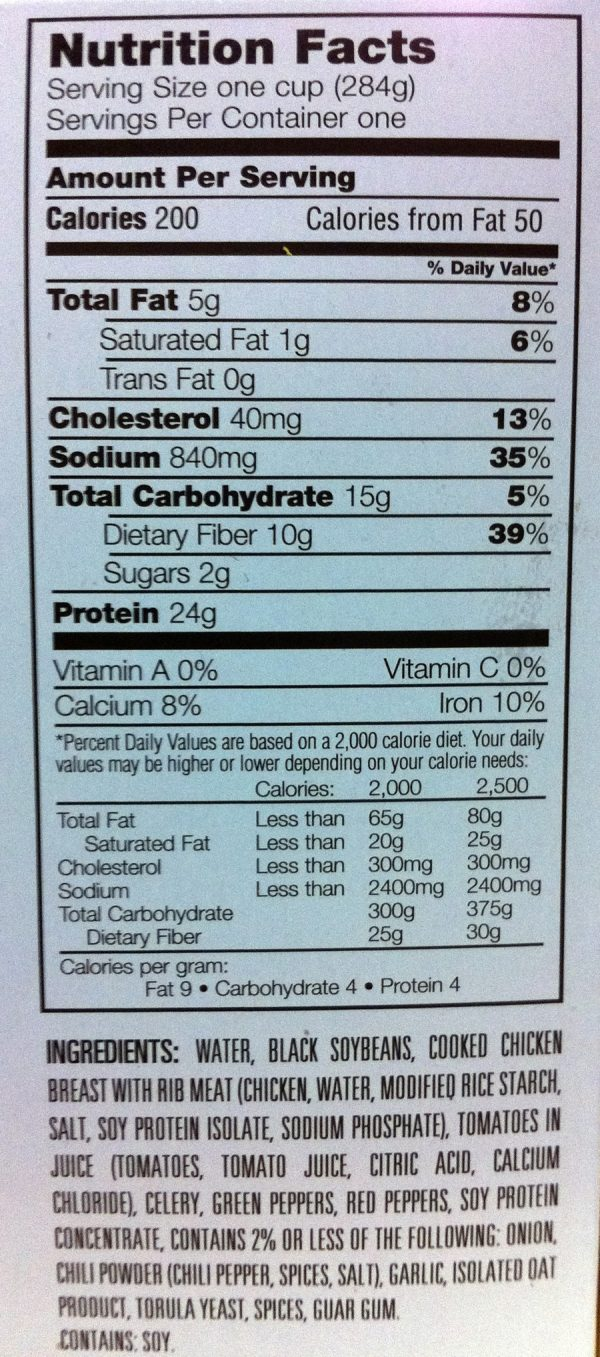LC Homestlyes Low Carb Chicken Chili with Bean Meal