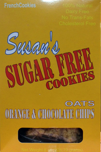 Susan's Sugar Free Oats & Orange and Chocolate Chip Cookies