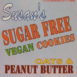 Susan's Sugar Free Oats & Peanut Butter Cookies