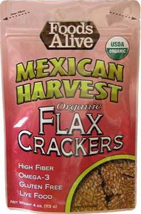 Foods Alive Low Carb Flax Crackers Mexican Harvest
