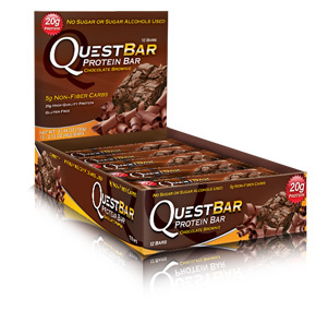 Quest Bar Low Carb Chocolate Brownie Box of 12 bars