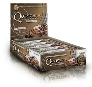 Quest Bar All Natural Line Low Carb Cinnamon Roll Box of 12 bars