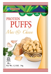 Kays Naturals Mac n Cheese Protein Puffs 1.2 oz bag