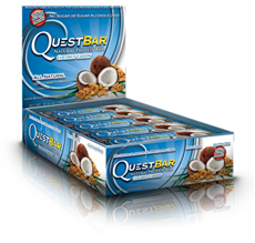 Quest Bar All Natural Line Low Carb Coconut Cashew Bar Box of 12