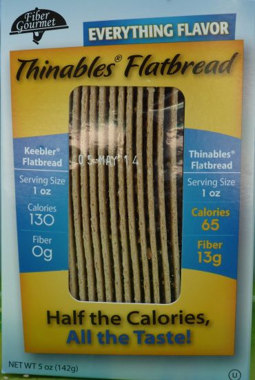 Fiber Gourmet Thinables Flat Bread Everything Flavor 5oz