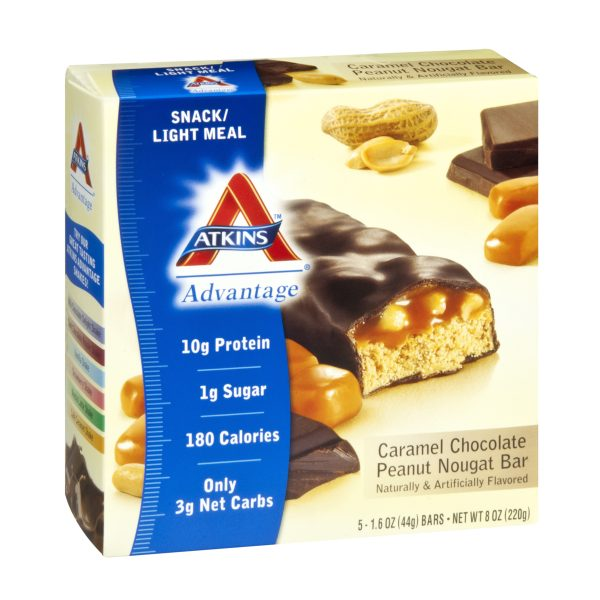 Atkins Advantage Chocolate Peanut Nougat Box of 5 Bars