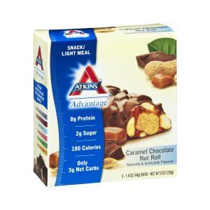 Atkins Advantage Caramel Chocolate Nut Roll Box of 5